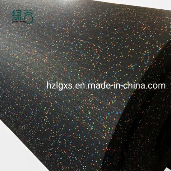 Shock Absorbing Noise Reduction Rubber Flooring Crossfit Rubber Gym Flooring with Ce/En71/En1177/Reach/ISO10140