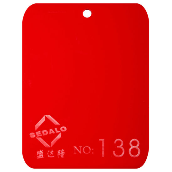 Red Cast Acrylic Sheet (SDL-138)