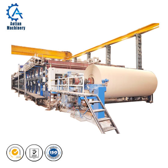 Paper Mill Waste Pulp Paper Recycle Machine Equipment Kraft Paper Production