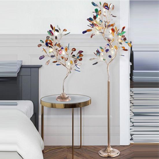 China S Shaped Agate Tree Floor Lamp Sitting Room Bedroom Corner Lamp China Nordic Modern Floor Lamp Personalized Creative Floor Lamp