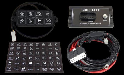 Sp-8100 Switch Panel Power System Jeep Truck LED Lighting Bluetooth