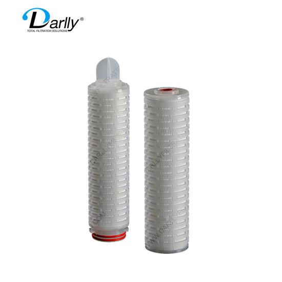 Darlly 10 Inch PP Micron Pleated 0.1um 0.22um 0.45um 1um 3um 5um 10um 20um 50um Filter Cartridge