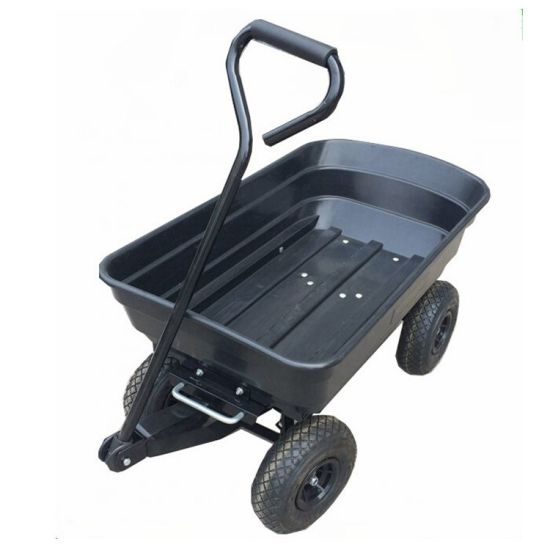 Portable Garden Wagon Cart with Roof Folding Beach Trolley Cart