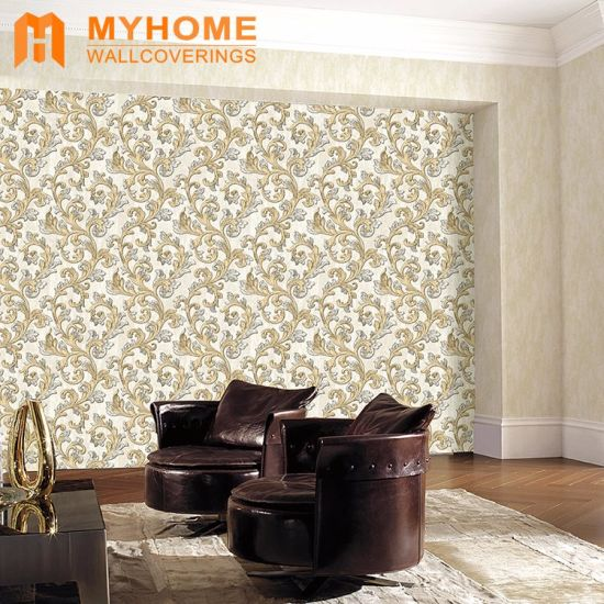 Korea Size 106cm Wallpapers Beautiful Damask Waterproof Wall Paper Wallpaper For House