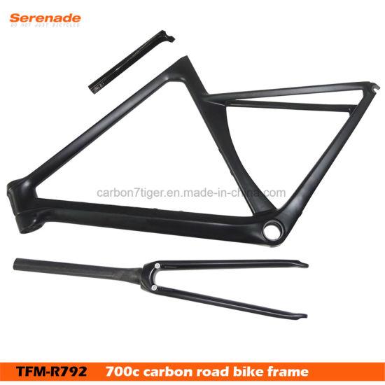 China 700c Carbon Fiber Road Bike Frame Tfm-R792 C Brake Frames Fork ...