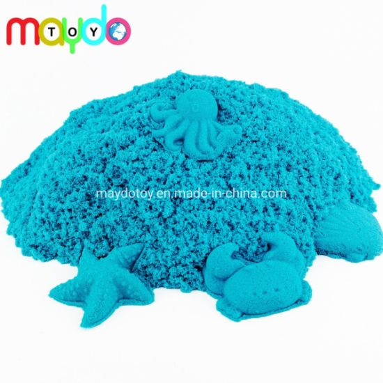 Wholesale Blue Space Sand Magic Kinetic Sand DIY Kids Play Sand Toy