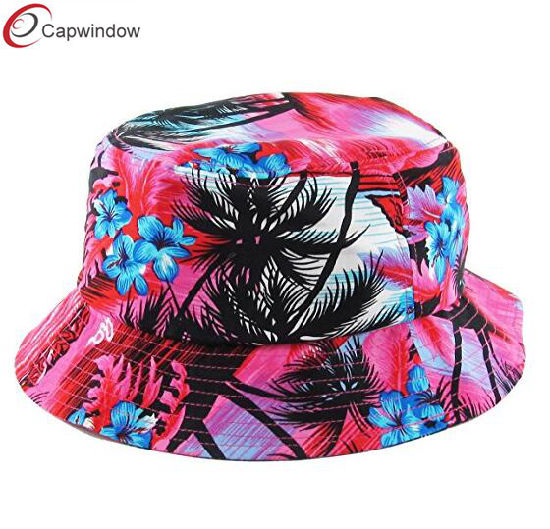 aa695565814825 Hawaiian Floral Pattern Summer Bucket Hat Summer Cap for Unisex pictures &  photos