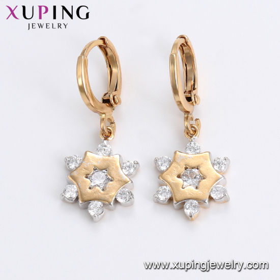 25600 Fashion Hot Sales Diamond Earring Drop in 18K Gold Color pictures & photos