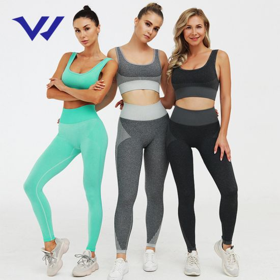 Pre-Sale Hot Knit Seamless Fitness Suit Hip Hip Yoga Pants Sports Suit Source Manufacturers Yoga Set