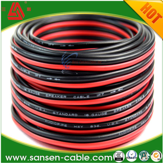 China 5 FT 14 Gauge Black & Red Speaker Cable for Car & Home Audio ...