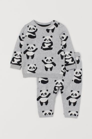 Fashion Clothing Baby Suit Sweater Panda Printed Baby Clothes