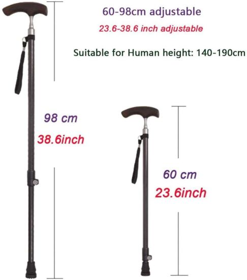 Carbon Fiber Walking Stick Cane with Wooden Handle