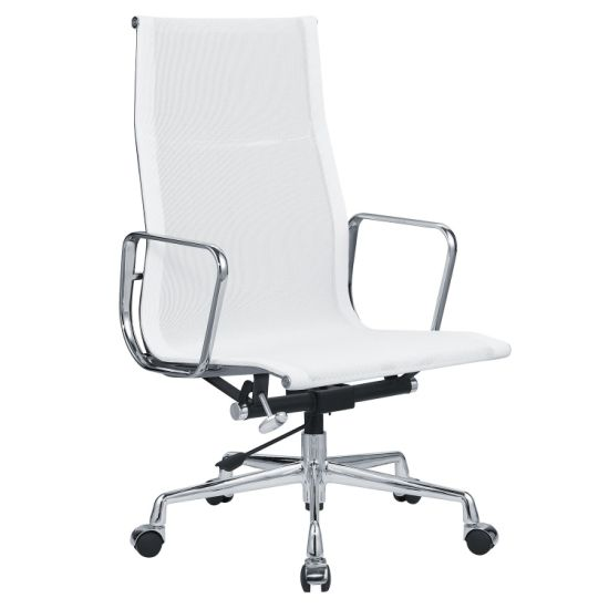 Guangdong Factory of Eames White Mesh Adjustable Back Rest Swivel Executive Ergonomic Computer Office Chair Ea119