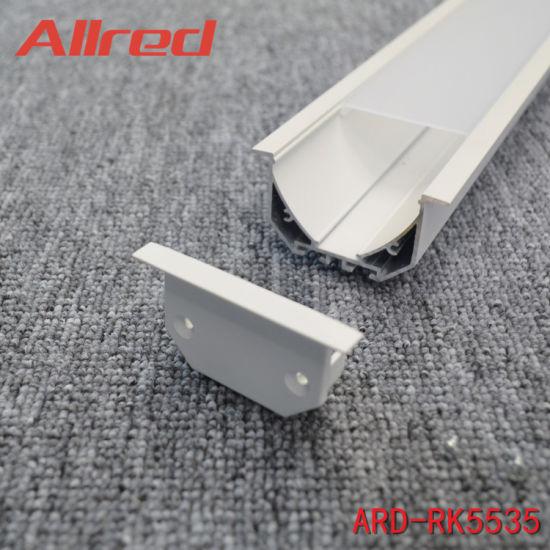 Supermarket Linear Light Housing 2mm Thick Aluminium Profile with Ce SAA C-Tick