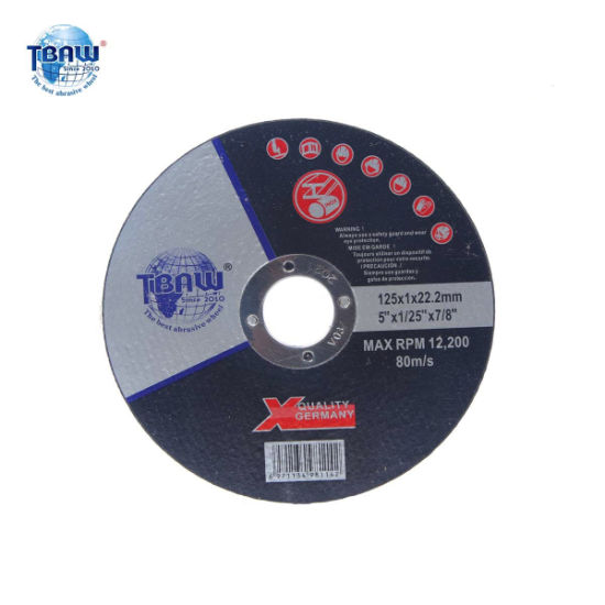 Factory 5 Inch 125*1.0*22mm Super Thin Abrasive Stainless Steels Cut off Disc Small Size Cutting Wheel