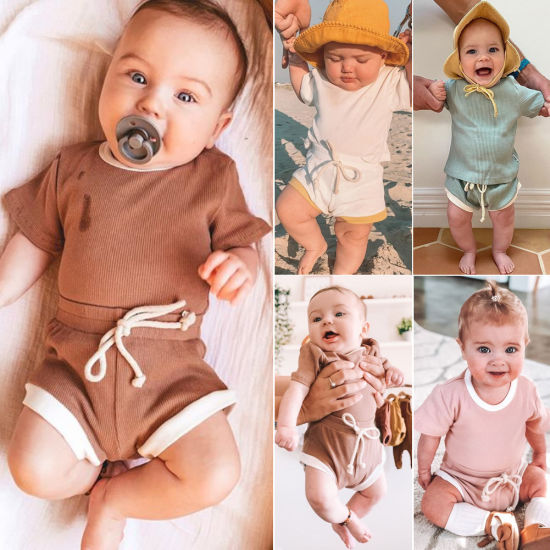 Toddler Fashion Clothing Two-Piece Suit Short-Sleeved Summer Baby Clothes