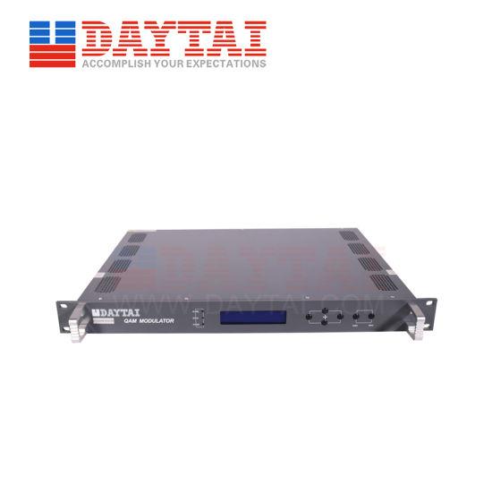 Head-End Equipment DVB-C Digital TV Qam Modulator with Ts Multiplexing