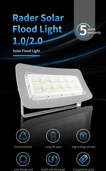 High Lumen Solar Flood Light Outdoor IP65 Radar Sensor