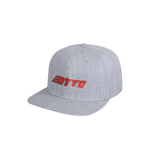 Wool Acrylic with TPU Patch Logo Flat Brim Cap pictures & photos