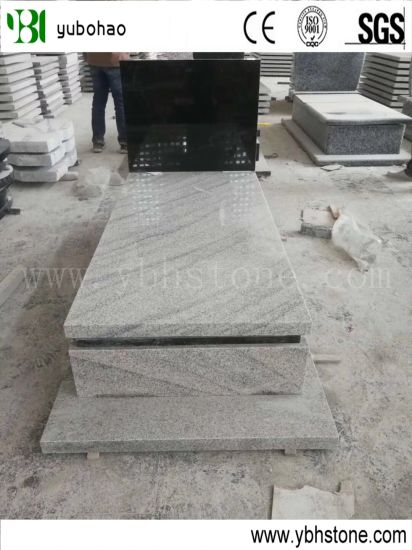 Polished Natural White Granite Headstone for Cemetry and Memorial
