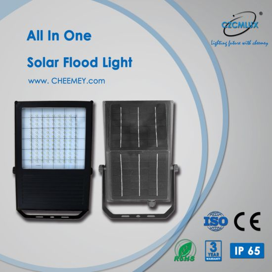 All in One Wall and Pole Monted LED Solar Flood Light for Outdoor