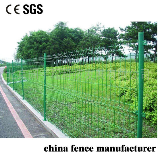 Farm Protection Anti Cut Anti Climb Green PVC Coated Welded Wire Mesh Fencing