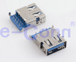 USB Shielded I/O Receptacle Through Hole pictures & photos