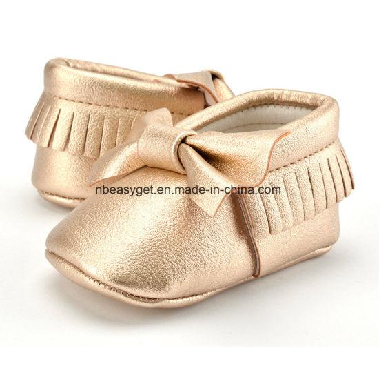 Baby Boys Girls Soft Soled Tassel Bowknots Crib Shoes PU Moccasins Esg10213