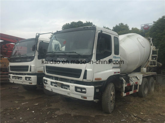 China Used Isuzu 6X4 Concret Truck Mixer Specifications Capacity for