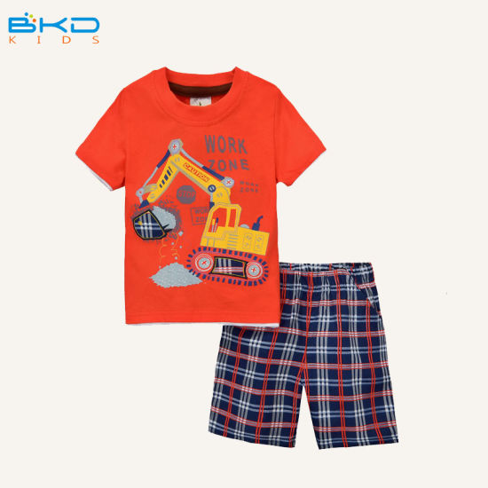 Combed Cotton Baby Wear Summer Style Kids Clothes Set