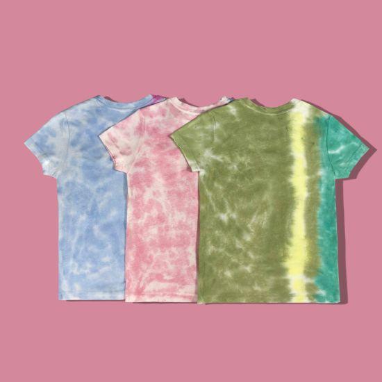 colorful Custom Stripe Tie-Dyed Kids Wear Tshirt Manufacturer