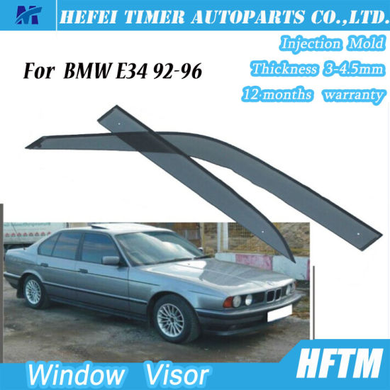 Window Visor Sun Guard Rain Deflector Vent Shade For BMW E34 92 96