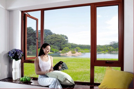 Foshan Woodwin High Quality Double Tempered Glass Aluminum Window pictures & photos