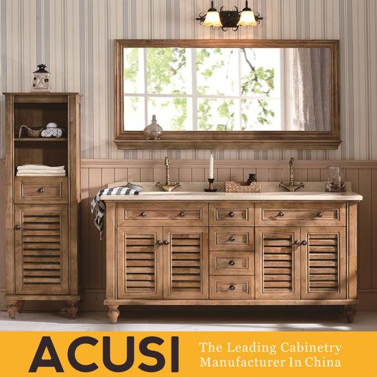 Simple Style Solid Wood Bathroom Vanity