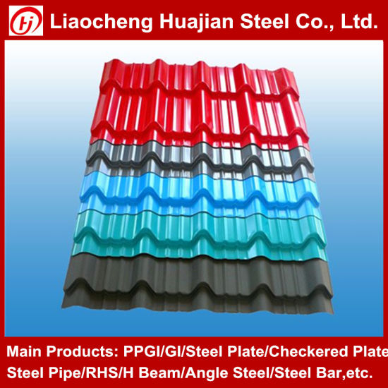 Building Material Roof Sheet Galvanized Corrugated Steel Metal Sheet Roofing Sheet