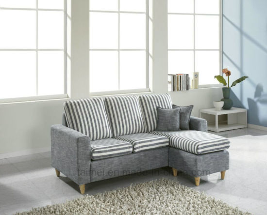 Modern Small L Shape Sectional Fabric Sofa Corner