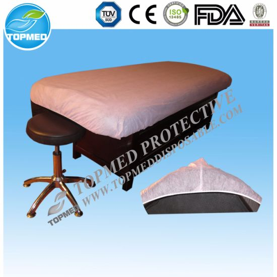 Disposable Nonwoven Bed Cover Sheet with Elastic for Hospital pictures & photos