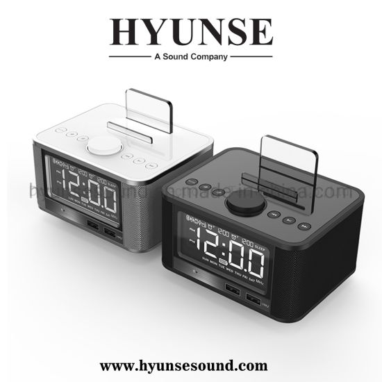 Alarm Clock LCD Time Display Charger Bluetooth Hotel Speaker M7
