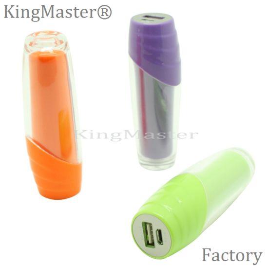 Kingmaster 2600mAh Power Bank Lipstick Shape Portable Power Bank for Mobile Phone