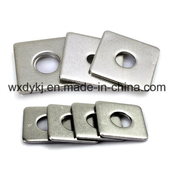 Stainless Steel 304 316 Slotted Flat Square Washers