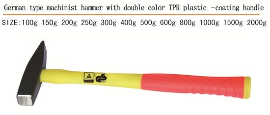 Hammer Good Quality Machinist Hammer Double Color Plastic Coating Handle pictures & photos