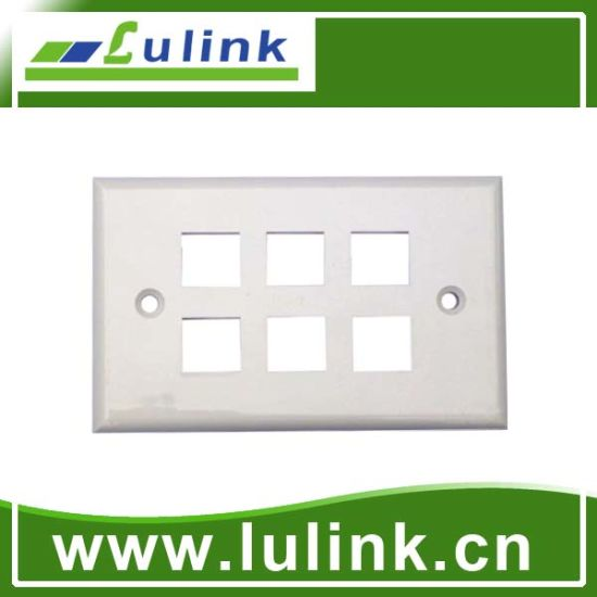 Information Outlet Wall Socket 6 Port 120 Type Network Faceplate