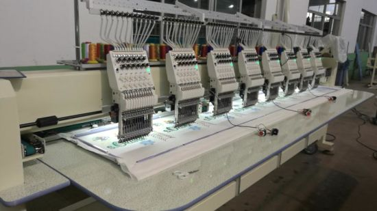 15 Colors High Speed Multi Heads Embroidery Machine with Sewing Machinery