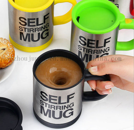 OEM Logo Automatic Mixing Stainless Steel Electric Coffee Mug pictures & photos