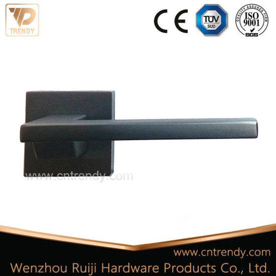 Door Accessories Split Handle Black Door Handle On Square Base