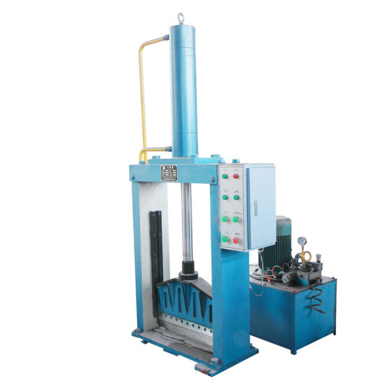 Waste Rubber Cutting Machine with Single Knife Hydraulic Press pictures & photos