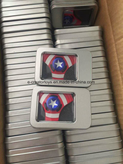 2017 New Aluminium Alloy Hand Spinner /Captain America/American Captain / Spiderman pictures & photos