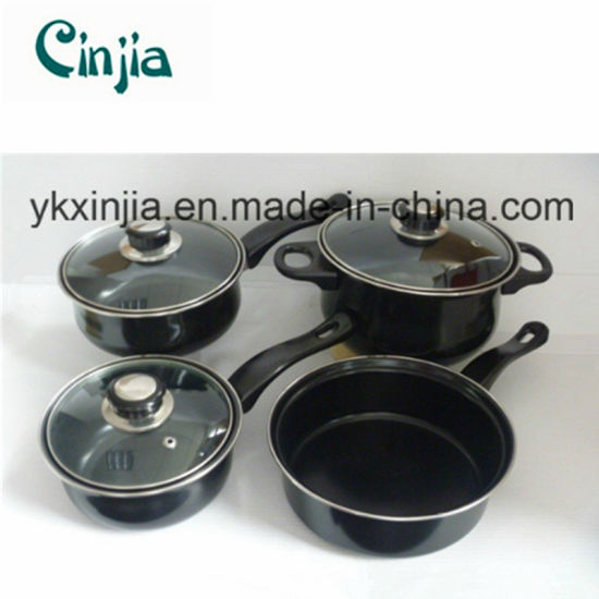 China Wal-Mart Kitchen Ware Carbon Steel Non-Stick Cookware Set ...