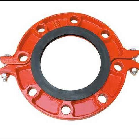 FM/UL Certificated Ductile Iron Pipe Fittings Split Flange for Water Supply