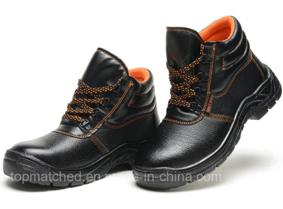 Leather Labor Safety Protective Work Shoes with Steel Toe Cap for Men pictures & photos